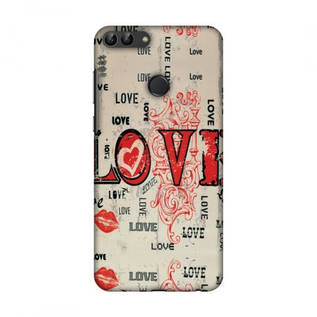 Huawei Enjoy 7S Case, Huawei P Smart Case - Enchanted Love,Hard Plastic Back Cover, Slim Profile Cute Printed Designer Snap on Case with Screen Cleaning Kit