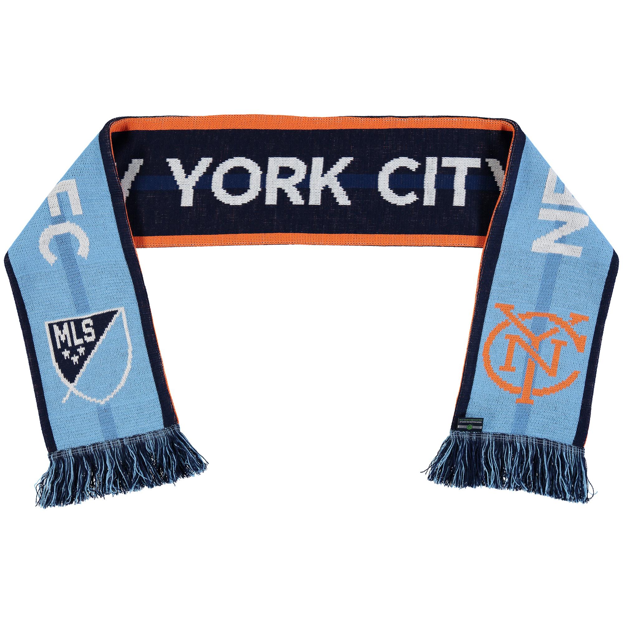 New York City FC Team Pride Scarf - Light Blue/Blue - No Size