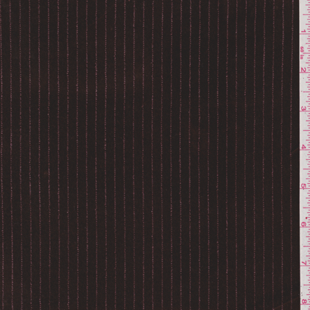 Chocolate Brown Velvet - Chocolate Brown Stripe Stretch Velvet, Fabric Sold By the Yard