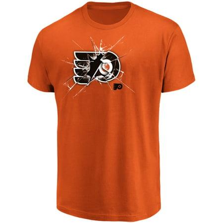 Reebok Philadelphia Flyers Patch - Men's Majestic Orange Philadelphia Flyers Poke Check T-Shirt