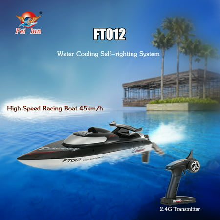 Original Feilun FT012 2.4G Brushless 45km/h High Speed RC Racing Boat with Water Cooling Self-righting
