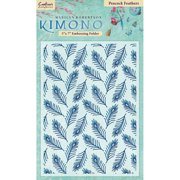 "Kimono Embossing Folder 5""x7""-peacock Fe"