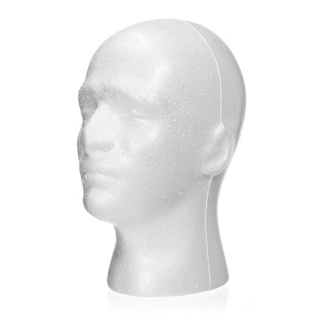 11' Male Foam Wig Head Styrofoam, Mannequin Head Hat Glasses Display Holder Model](Styrofoam Skull Head)