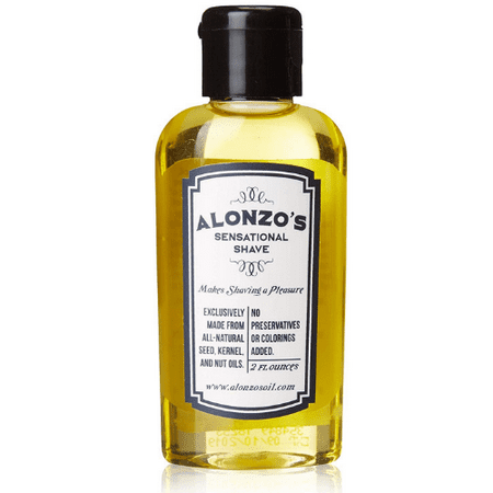 Alonzo's Sensational Premium Natural Shaving Oil for Men | Works as Moisturizing Pre Shave / After Shave / Beard Oil for Face Body & Head | Smooth Pre-Shave 2oz Treatment Pre Shave Oil