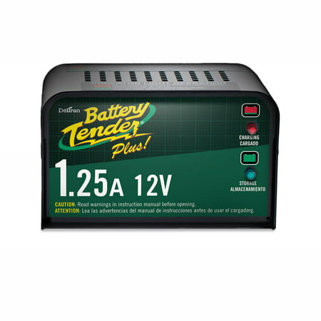 SuperSmart Battery Tender Plus 12-Volt 1.25 AMP Battery Charger ()