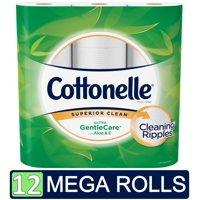 Cottonelle Ultra GentleCare Toilet Paper, 12 Mega Rolls (=48 Regular Rolls)