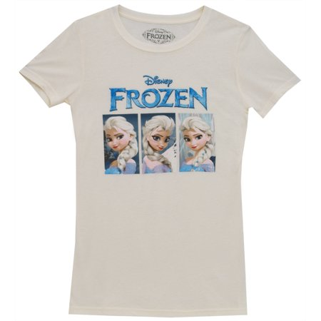 Frozen Elsa Trio Boxes Disney Animated Movie Mighty Fine Juniors T-Shirt Tee (Elsa Dress From Frozen Movie)