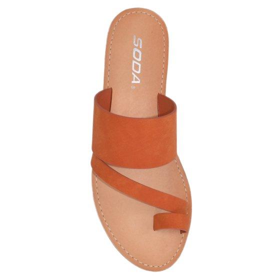 3d685069c87c Soda - Joan Black Soda Flip Flops Shoes Women Basic Sandals Flat Summer  Thongs Toe Ring - Walmart.com