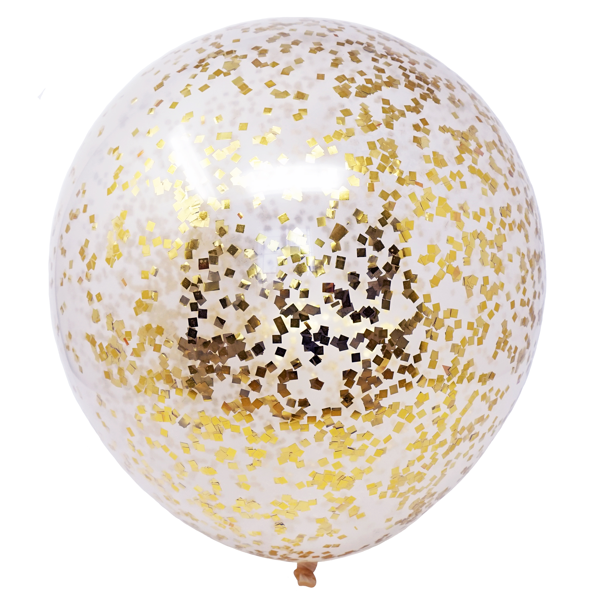 18 Inch Confetti Filled DIY Kit Party Balloons Set, 6 Clear Balloons + 50 Grams of Tissue Confetti (Pink, White, Gold Mylar Flakes)