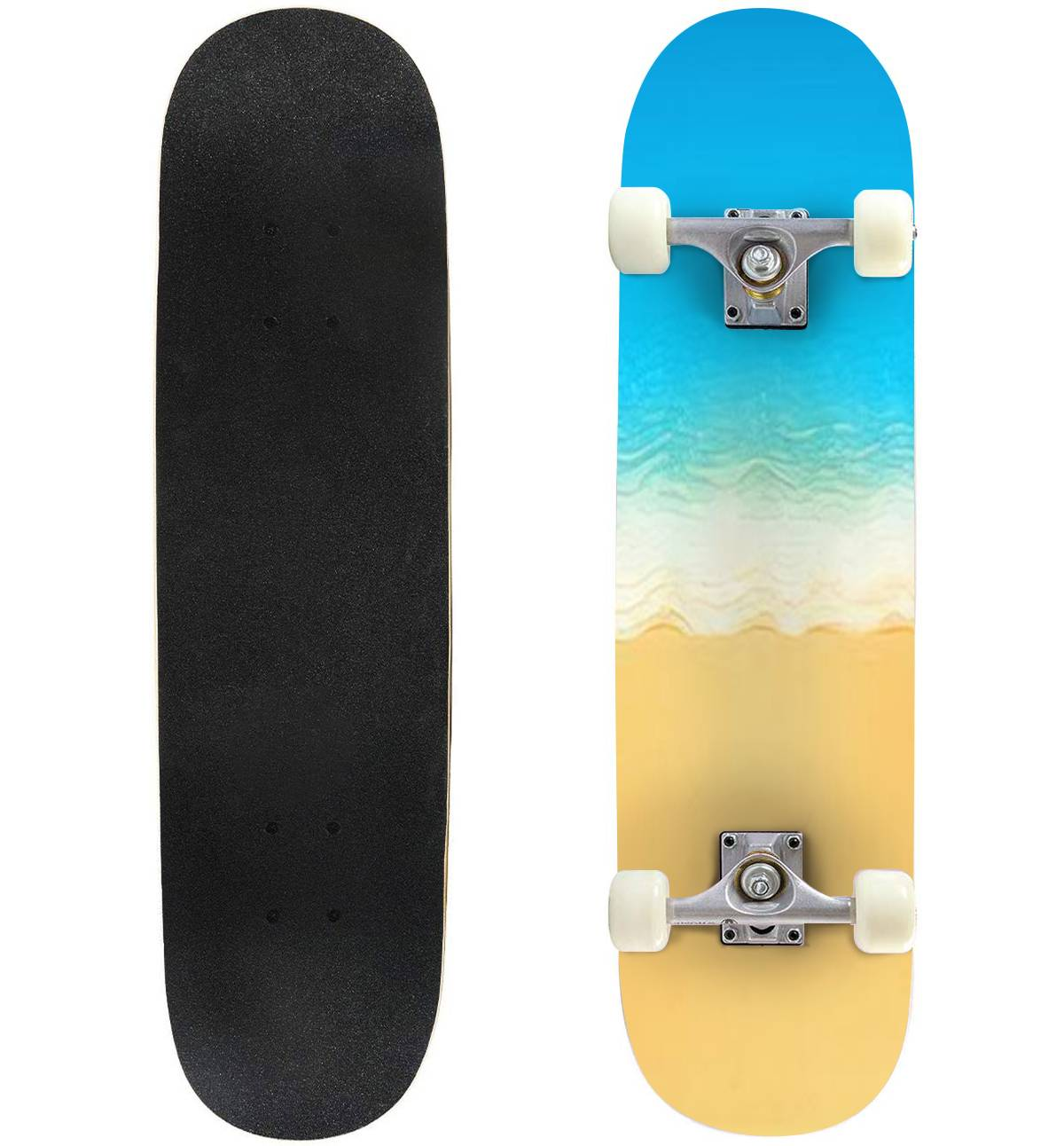 Classic Concave Skateboard Giraffe Vector Two tanding Behind The treesat Sunset Longboard Maple Deck Extreme Sports and Outdoors Double Kick Trick for Beginners and Professionals