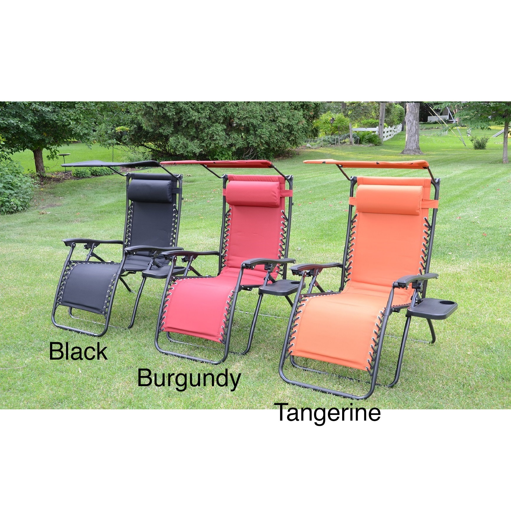 Styled Shopping Inc Styled Shopping Deluxe Padded Zero Gravity Chair with Canopy and Tray
