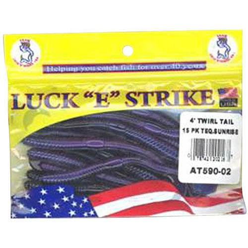 Luck-E-Strike Twirl Tail Worm, Teq Sunrise