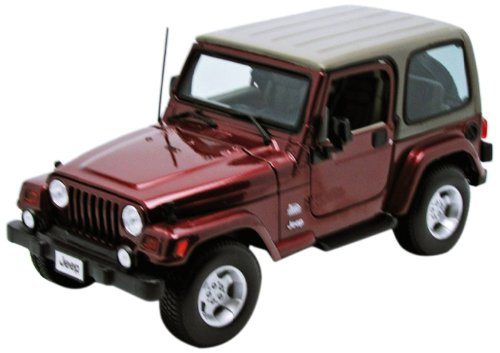 1:18 Scale Jeep Wrangler Sahara Diecast Vehicle (Colors May Vary), Die-Cast metal body... by
