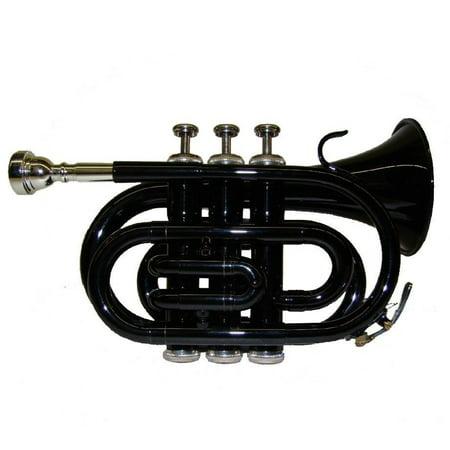 Merano B Flat Black Pocket Trumpet with (Best Holton Pocket Trumpets)