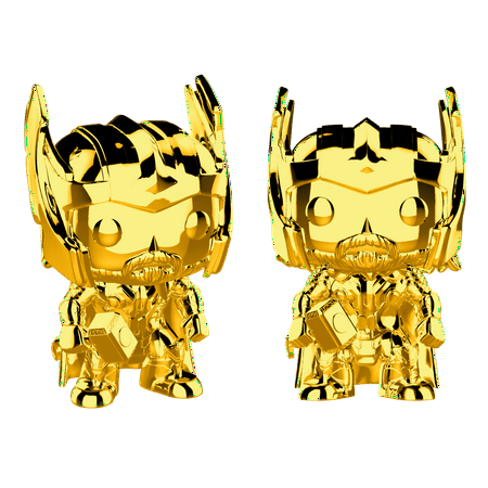 Funko POP! Marvel Studios 10: Thor (Chrome Gold), Vinyl Figure
