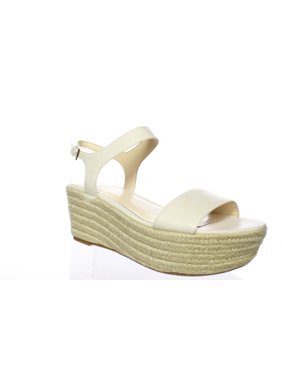 Nine West Womens Flownder Off White Espadrilles Size 8.5