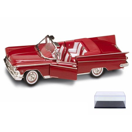 Diecast Car & Display Case Package - 1959 Buick Electra 225 Convertible, Red - Road Signature 92598 - 1/18 Scale Diecast Model Toy Car w/Display Case Buick Electra 225 Car