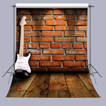 HelloDecor Polyster Background 5x7ft Guitar On Wooden Floor photography Backdrop Studio Props](Guitar Prop)