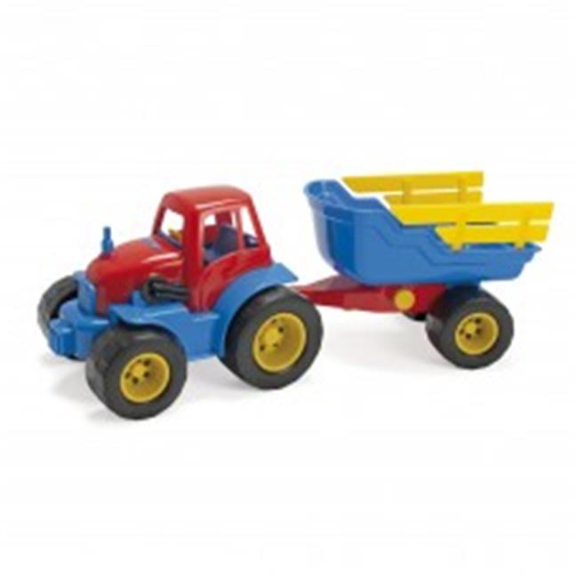 American Educational DT-2135 Tractor with Trailer Plastic Wheel for Baby Toys by