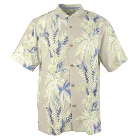 Tommy Bahama Men's Sistine Vines Island Zone Camp Shirt Patchwork Camp Shirt