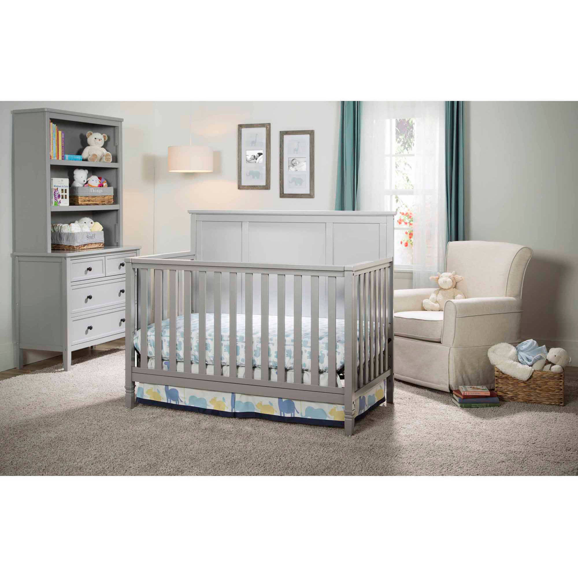 . Delta Children Epic 4 in 1 Convertible Crib Gray   Walmart com