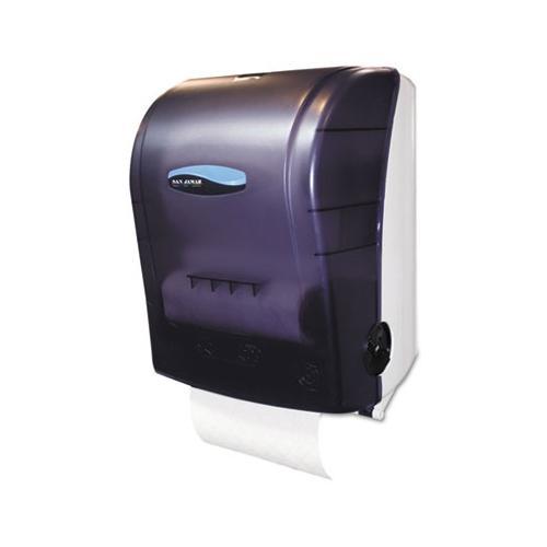 San Jamar T7000TBK Black Simplicity Mechanical Hands Free Roll Paper Towel Di...