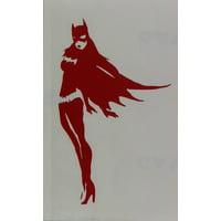 Licenses Products DC Comics Batman Batgirl Rub On Sticker, Red