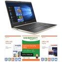 "HP 14 Slim 14"" Laptop (Ryzen 3 3200U / 4GB / 128GB SSD) with Software"