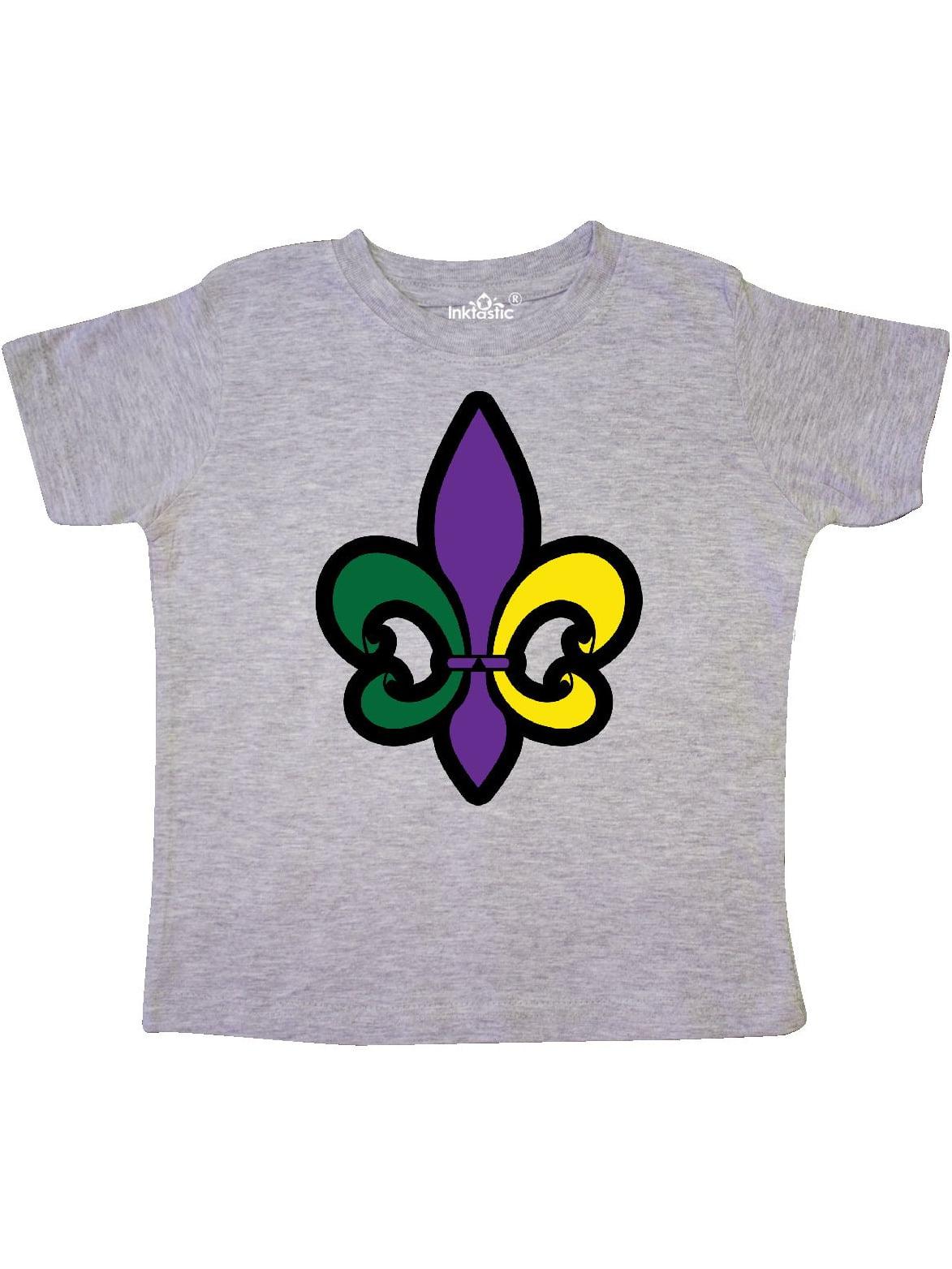 Fleur De Lis Mardi Gras Holiday Toddler T-Shirt