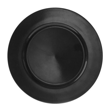 10 Strawberry Street Lacquer Round Charger Plate in Black (Set of - Lacquer Charger