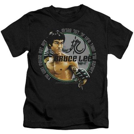 Trevco Bruce Lee-Expectations - Short Sleeve Juvenile 18-1 Tee - Black, Medium 5-6