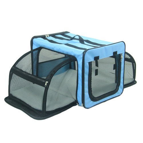 Tucker Murphy Pet Lachlan Dual-Expandable Wire Folding Lightweight Collapsible Travel Pet Crate