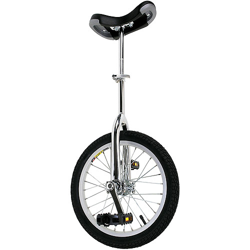 "Chrome 16"" Unicycle with Alloy Rim"
