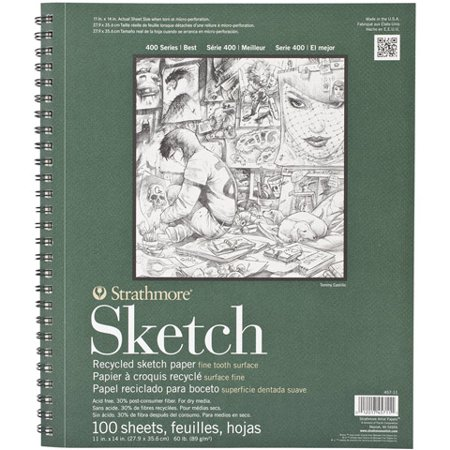 Strathmore Sketch Paper Pad, 400 Series, Recycled, 11