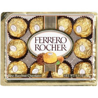 Ferrero Rocher: Chocolates Fine Hazelnut, 5.3 oz
