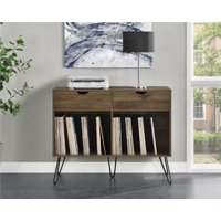 Novogratz Concord Turntable Stand with Drawers, Multiple Colors