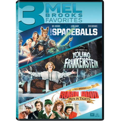 3 Mel Brooks Favorites: Spaceballs   Young Frankenstein   Robin Hood: Men In Tights by Mgm