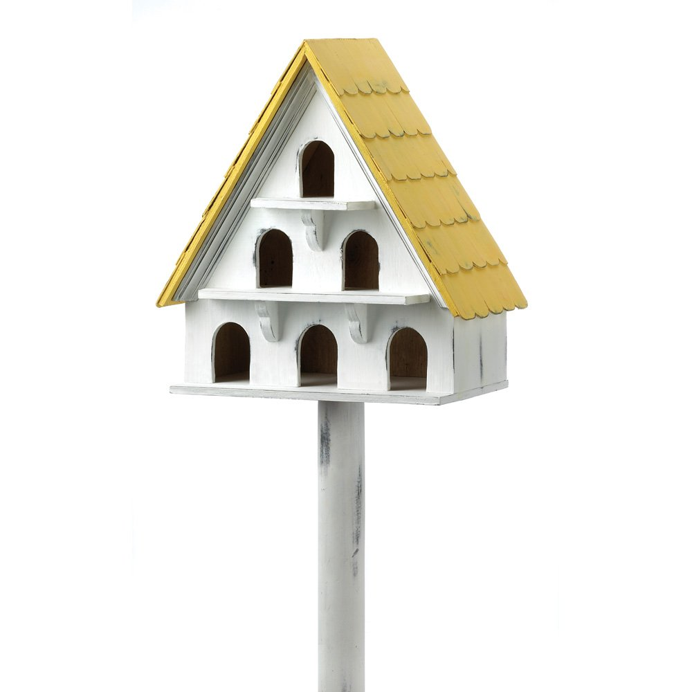 Outdoor Birdhouse Condo, Cute Chickadee Sparrow Hummingbird Birdhouses Wooden by Bird Houses