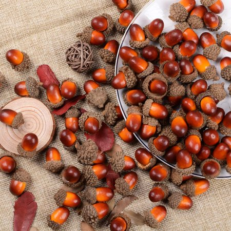 Simple Thanksgiving Crafts (Coolmade 200 Pieces Fake Acorns for Crafts Artificial Fruit Props Acorns Decoration Crafting DIY Home Party Wedding Decor Thanksgiving Christmas Festival,)
