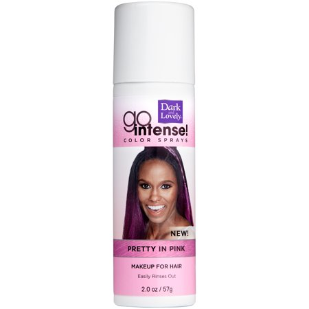 Dark Blue Hair Spray (SoftSheen-Carson Dark and Lovely Go Intense Temporary Hair Color Sprays, Pretty in Pink, 2)