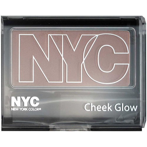 NYC New York Color Cheek Glow Single Pan Blush Powder, West Side Wine