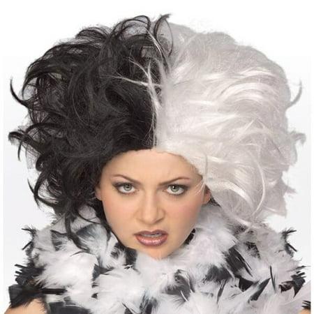 Deluxe Cruella De Vil Wig - Cruella De Vil Halloween Hair