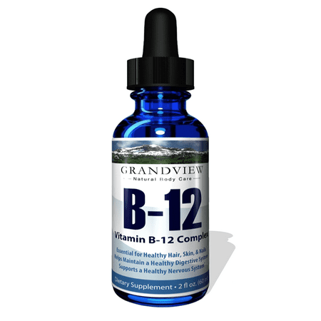 Vitamin B12 Complex Liquid Drops - Best Way To Instantly Boost Energy Levels And Speed Up Metabolism