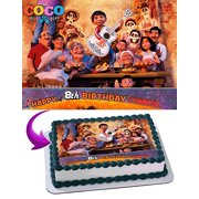 Coco Edible Cake Topper Personalized 1/2 Size Sheet Decoration Party Birthday Sugar Frosting Transfer Fondant Image