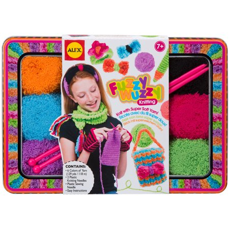 Knitting Kits For Kids (Fuzzy Wuzzy Knitting Kit-)
