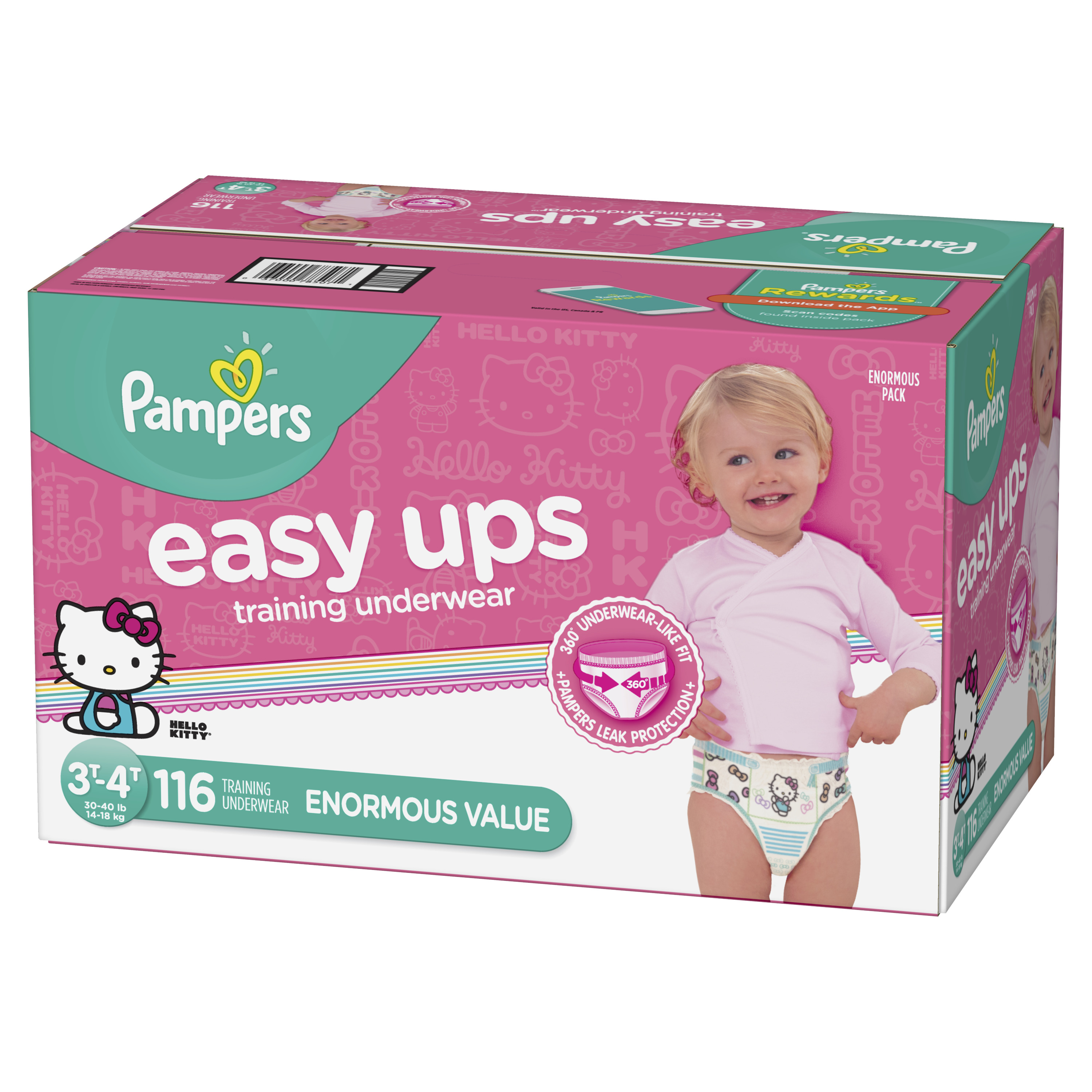 Pampers Easy Ups Training Underwear Girls (Choose Size and Count)
