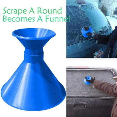 - Scrape A Round Magic Cone-Shaped Windshield Ice Scraper Snow Becomes A Funnel