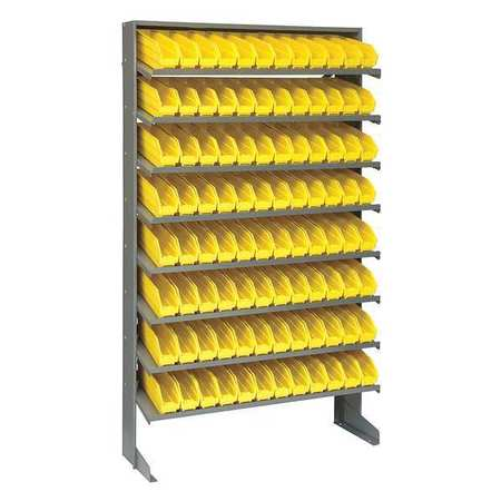 Sloped Shelving System, 12 In. D, 36 In. W QUANTUM STORAGE SYSTEMS QPRS-100YL
