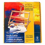 Winsor and Newton 20 Piece Complete Acrylic Painting Set with Adjustable Easel