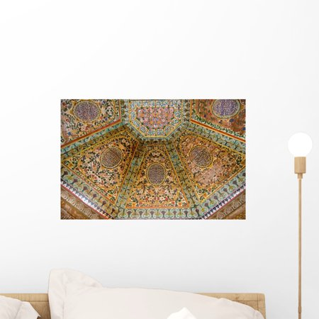 Painted Wooden Ceiling Wall Mural by Wallmonkeys Peel and Stick Graphic (18 in W x 12 in H) WM113498